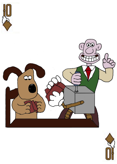 Gromit (and Wallace) Card